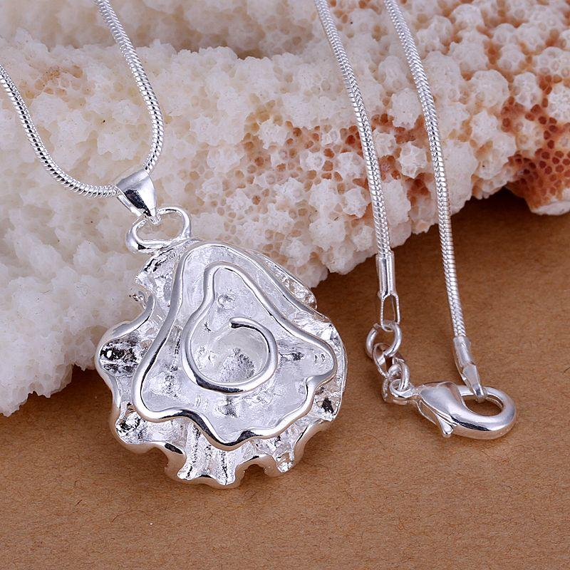 Seashell Coral Necklaces Plated in 18K White Gold-Daily Steals