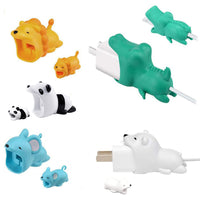 iPhone Animal Biters for USB Adapter and Cable Protectors - 2 Pack