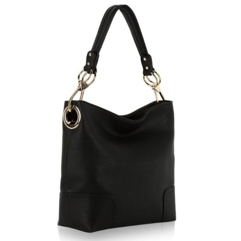Seema Hobo Vegan Leather Handbag by MKF-Black-Daily Steals