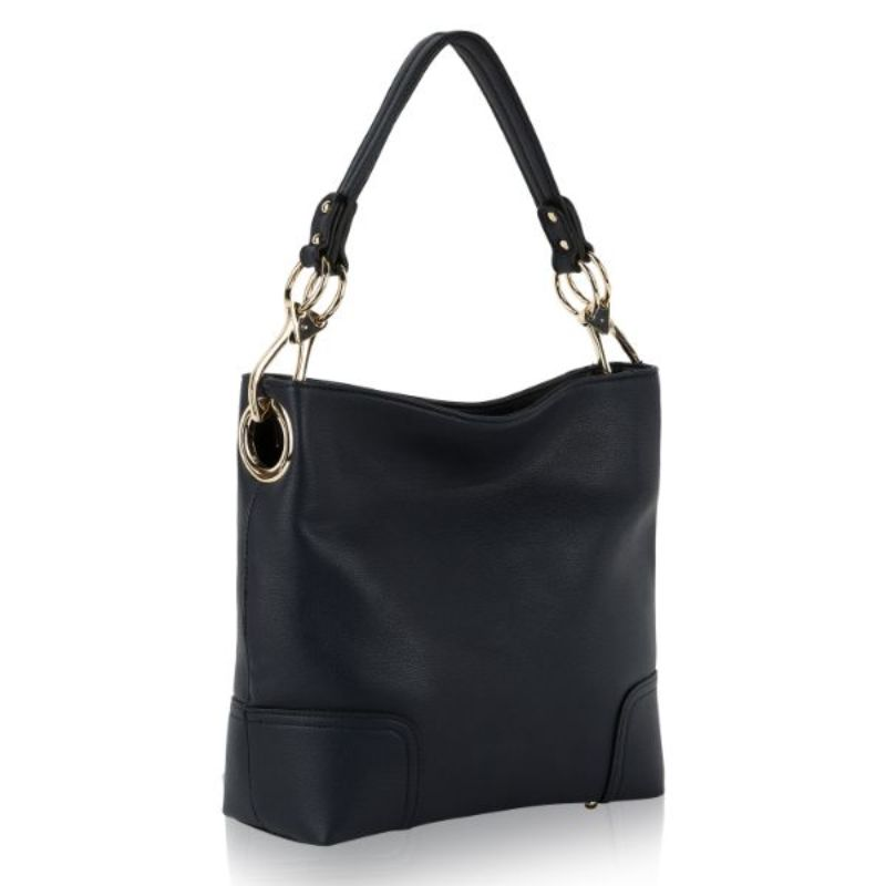 Seema Hobo Vegan Leather Handbag by MKF-Dark Blue-Daily Steals