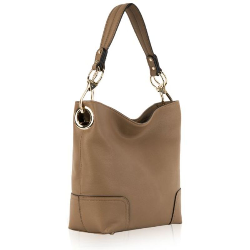 Seema Hobo Vegan Leather Handbag by MKF-Khaki-Daily Steals