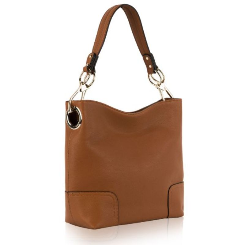 Seema Hobo Vegan Leather Handbag by MKF-Light Brown-Daily Steals