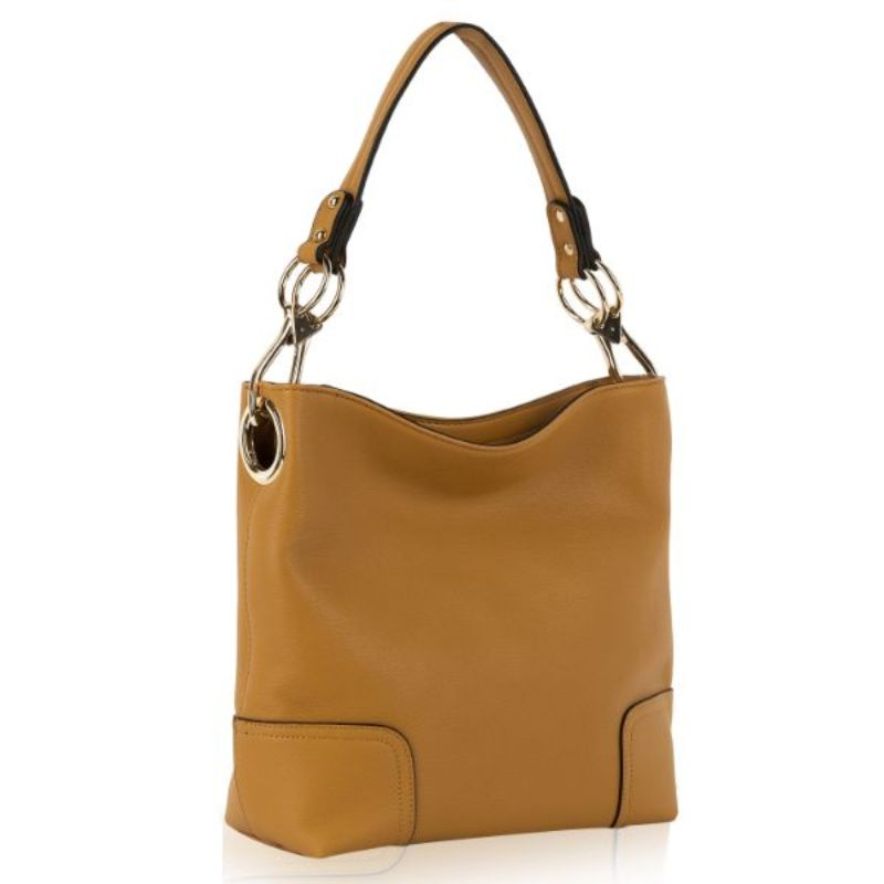 Seema Hobo Vegan Leather Handbag by MKF-Mustard-Daily Steals