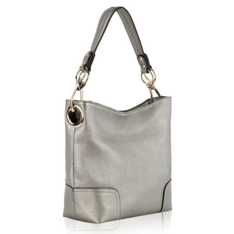 Seema Hobo Vegan Leather Handbag by MKF-Pewter-Daily Steals