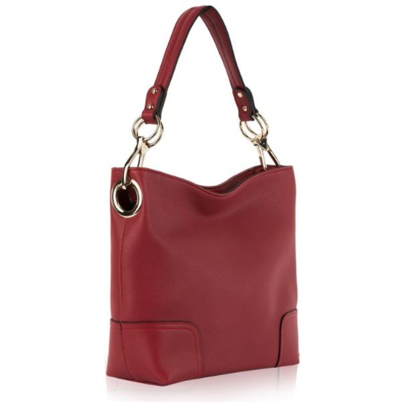 Seema Hobo Vegan Leather Handbag by MKF-Red-Daily Steals