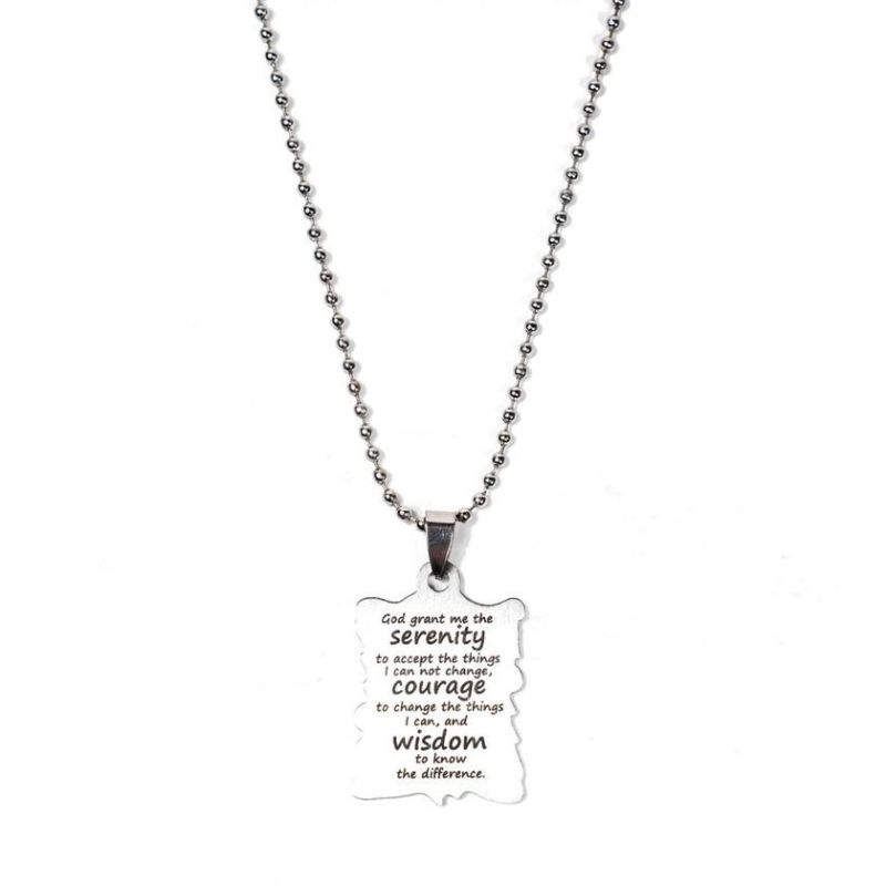 Serenity, Courage, and Wisdom Motivational Necklace-Daily Steals