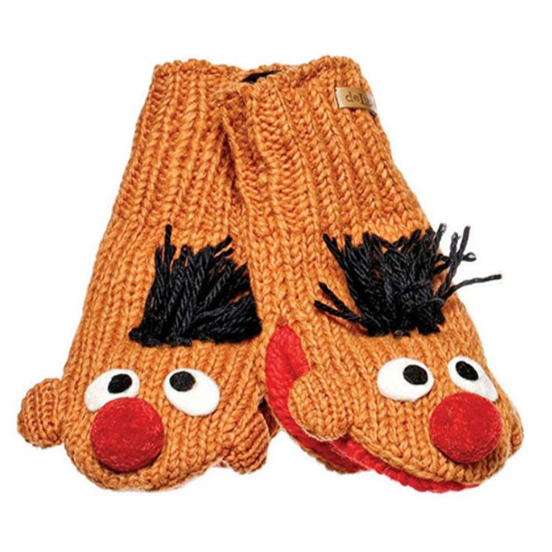Sesame Street Ernie Knitwits Kid's Knitted Wool Mittens-Daily Steals