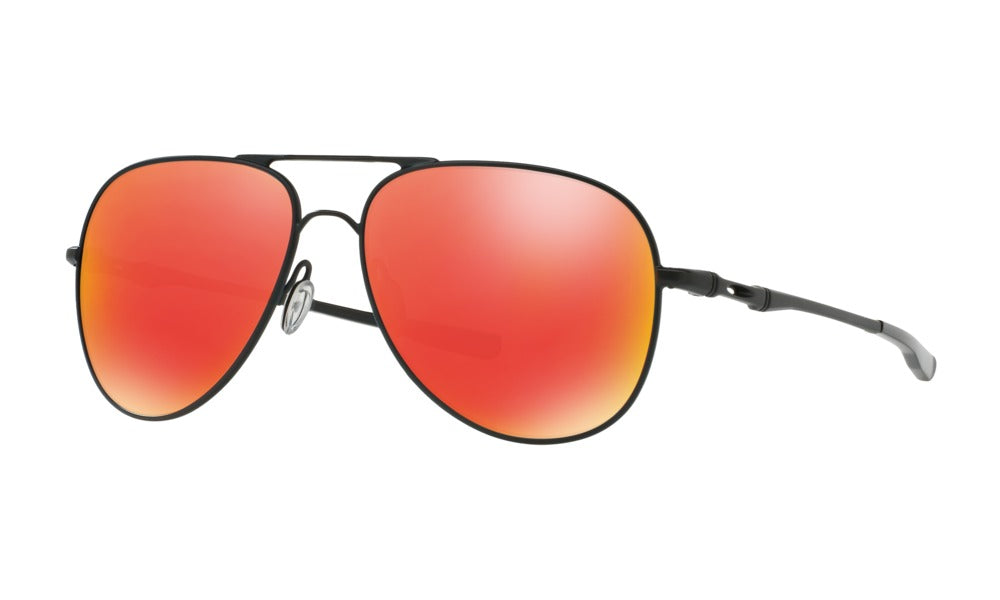 Oakley Elmont Sunglasses - Satin Black Frames - Ruby Iridium Lenses-Daily Steals