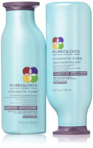 Daily Steals-Pureology Strength Cure Shampoo and Conditioner - 8oz-Health and Beauty-