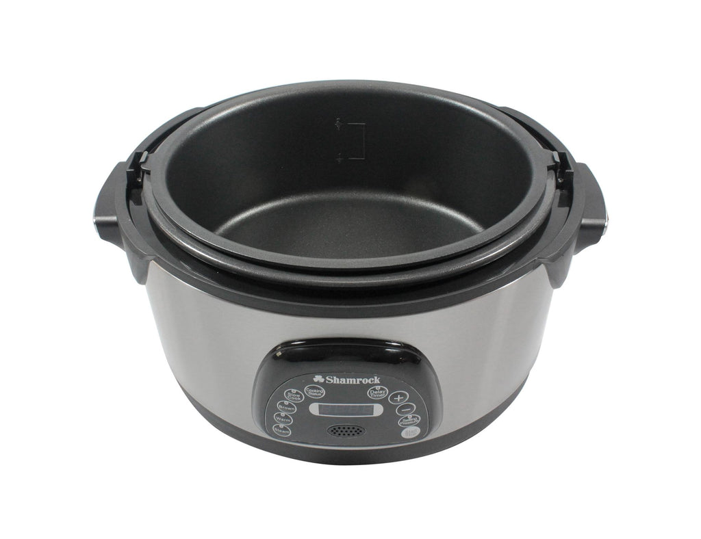 Shamrock 6.5 Qt Nonstick Pressure Cooker w/ Voice Command-Daily Steals