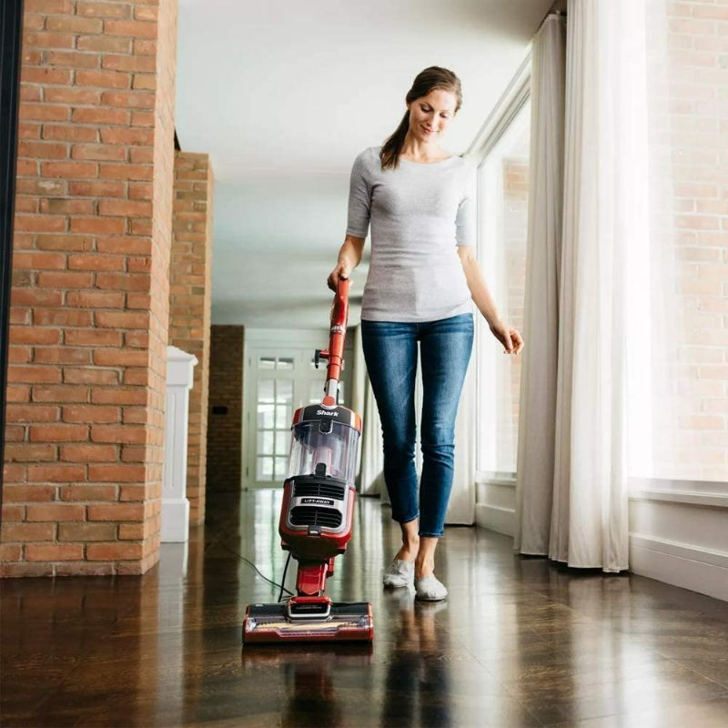 Shark Navigator Lift-Away Zero-M Speed Upright Multisurface Floor Vacuum Cleaner - Red