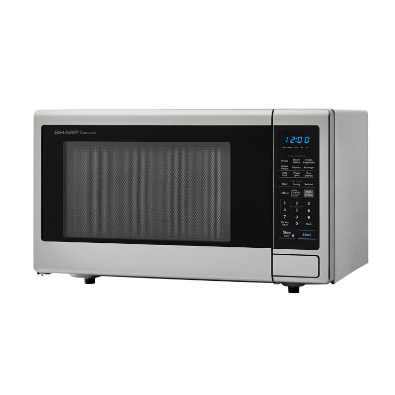 Sharp 1.8 cu. ft. 1100W Stainless Steel Countertop Microwave Oven