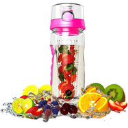 Sharpro 32 Ounce Fruit Infuser Non-Slip Flip Top Lid Water Bottle BPA Free-Daily Steals