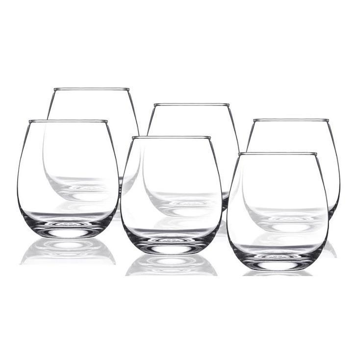 Daily Steals-Shatterproof Stemless Reusable Plastic Wine Glasses - 6-Piece Set-Home and Office Essentials-