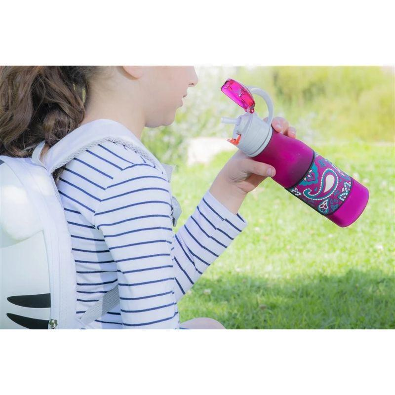 Shemtag Personalized Tritan Frosted Water Bottle With Lid and Body Grip - 13.5oz (400ml)-Dark Blue-