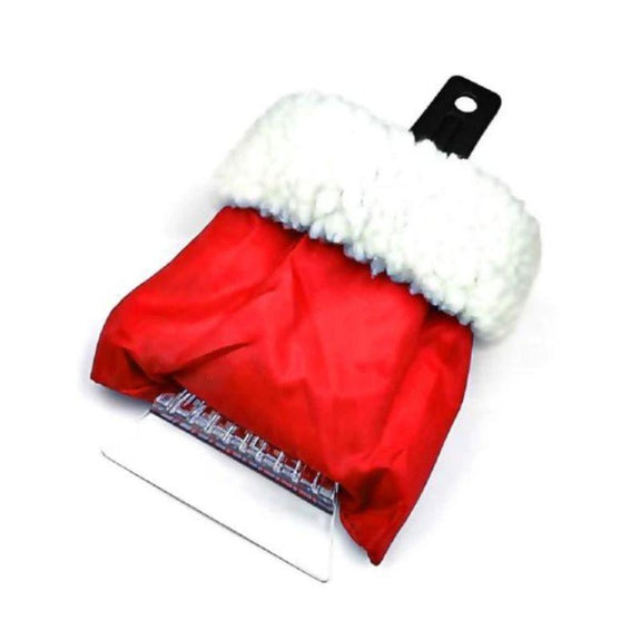 Sherpa Lined Ice Scraper with Glove-Red-Daily Steals