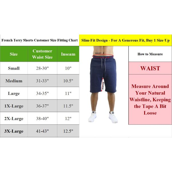 Men's Marled French Terry Shorts with Contrast Pockets - 2 Pack-Daily Steals