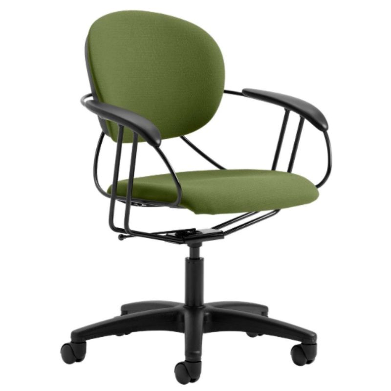Steelcase Uno Multipurpose Chair - Mid Back-Dark Green-Daily Steals