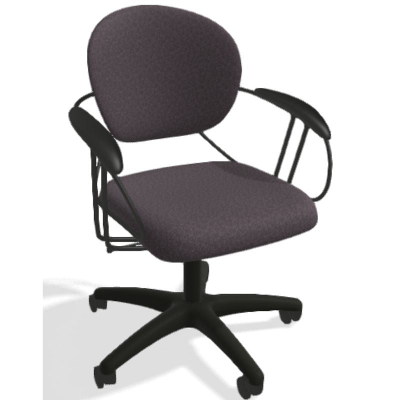 Steelcase Uno Multipurpose Chair - Mid Back-Gray Pattern-Daily Steals