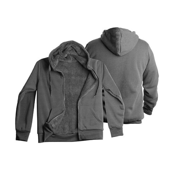 Men's Heavyweight Sherpa-Lined Fleece Hoodie - 3 Pack-Charcoal-L-Daily Steals