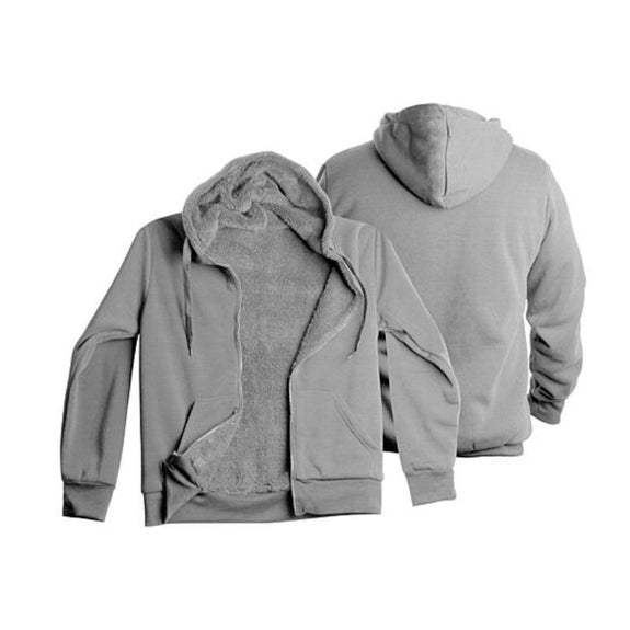 Men's Heavyweight Sherpa-Lined Fleece Hoodie - 3 Pack-Grey-L-Daily Steals