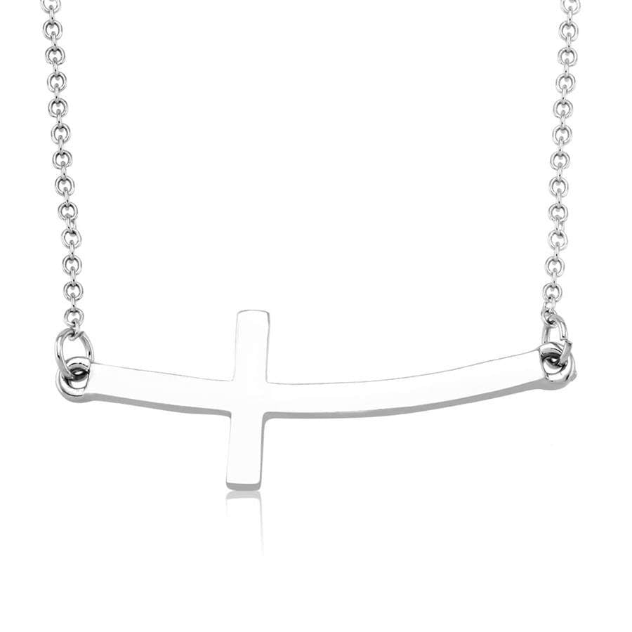 Daily Steals-Sideways cross Drop Necklace-Jewelry-