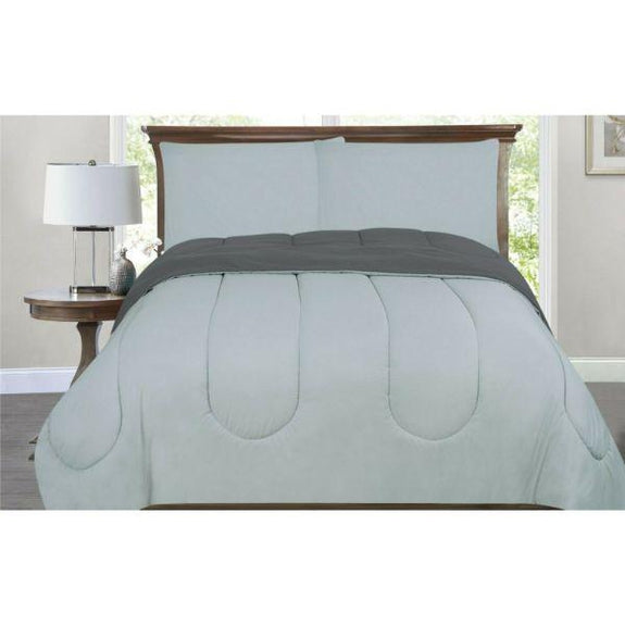 All-Season Down Alternative Reversible 2-Tone Comforter - 4 Colors-Silver/Grey-Twin/Twin XL-Daily Steals