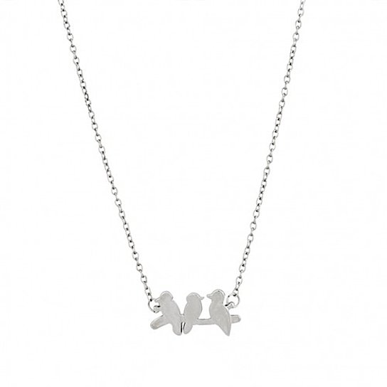 "Daily Steals-Jewelry Gift - 12 Styles-Jewelry-Silver ""Birds on a Branch"" Necklace-"