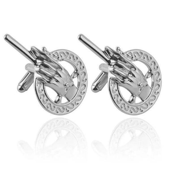 Hand of The King Cuff Links-Silver-Daily Steals