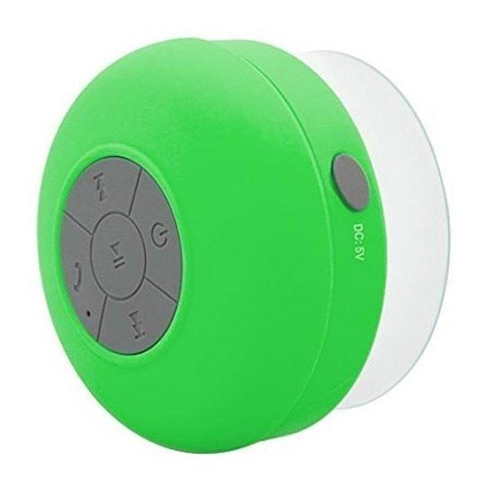 Daily Steals-Singing in the Shower Bluetooth Speaker with Built in Mic for Calls-Speakers-Green-1 pack-