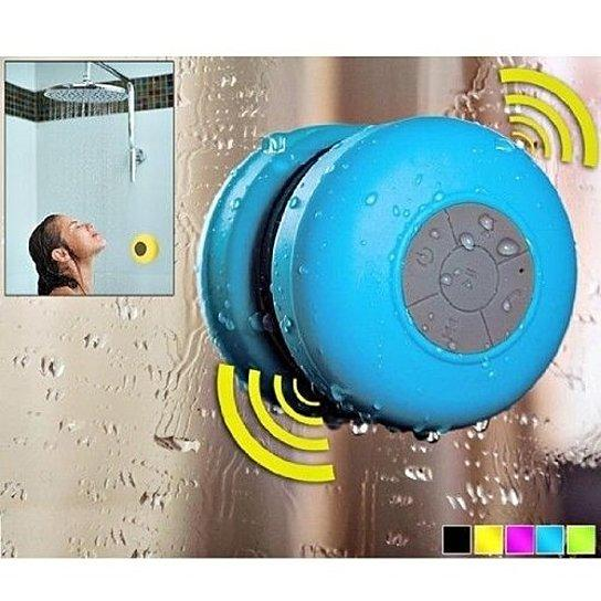 Daily Steals-Singing in the Shower Bluetooth Speaker with Built in Mic for Calls-Speakers-Black-1 pack-