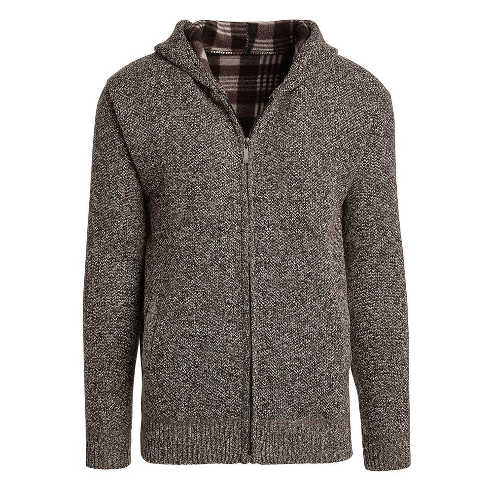 Alta Men's Casual Fleece Lined Hoodie Sweater Jacket-Brown-M-Daily Steals