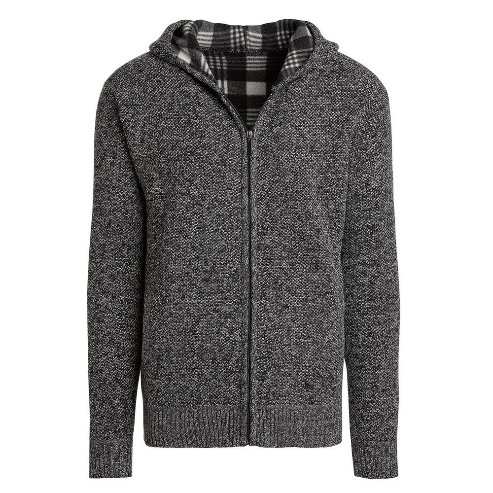 Alta Men's Casual Fleece Lined Hoodie Sweater Jacket-Dark Gray-L-Daily Steals