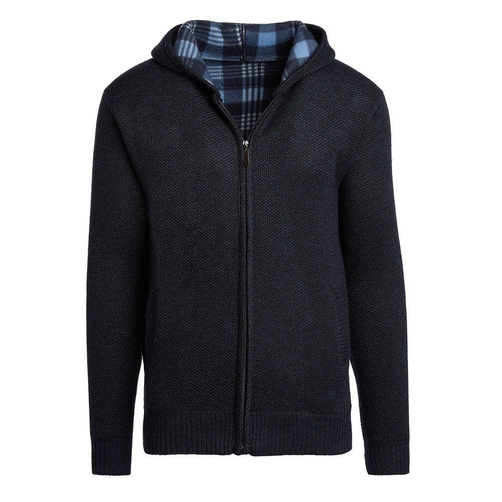 Alta Men's Casual Fleece Lined Hoodie Sweater Jacket-Navy Blue-L-Daily Steals