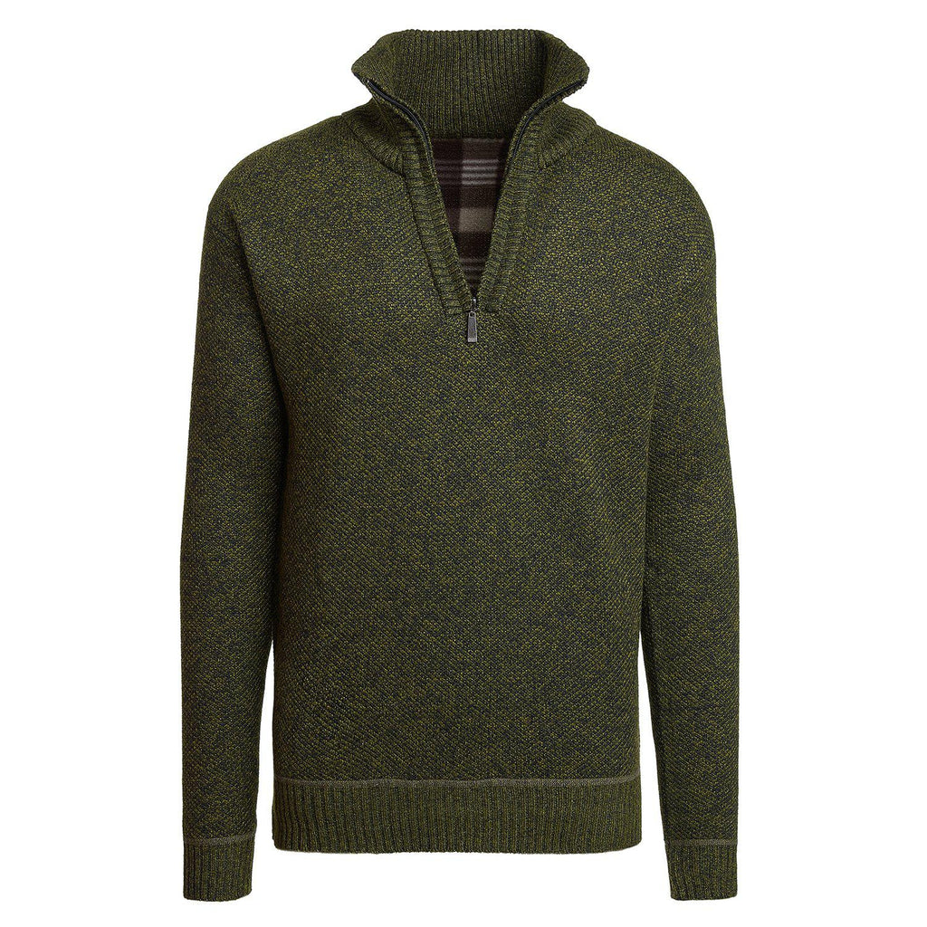 Alta Men's Casual Long Sleeve (Half-Zip / Full-Zip) Mock Neck Sweater Jacket-Green-Half-Zip-S-Daily Steals