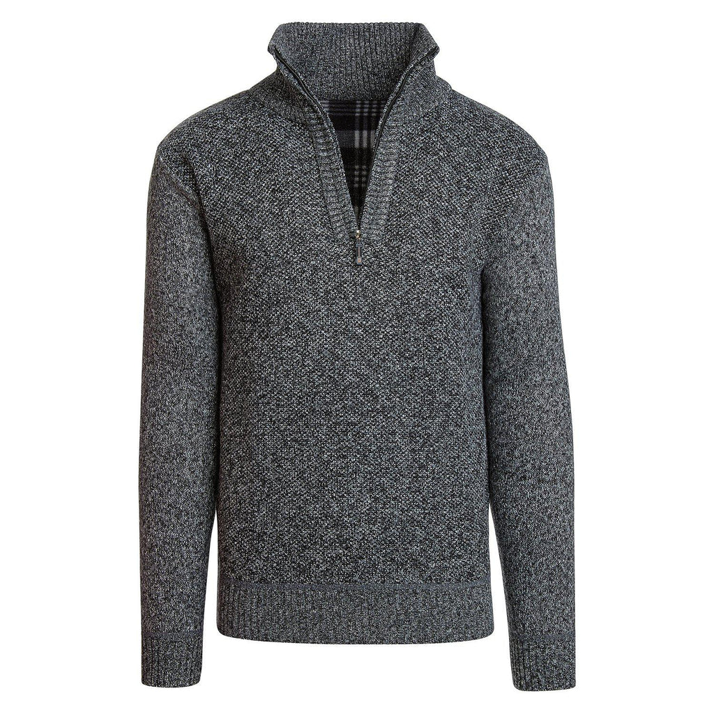 Alta Men's Casual Long Sleeve (Half-Zip / Full-Zip) Mock Neck Sweater Jacket-Dark Gray-Half-Zip-M-Daily Steals