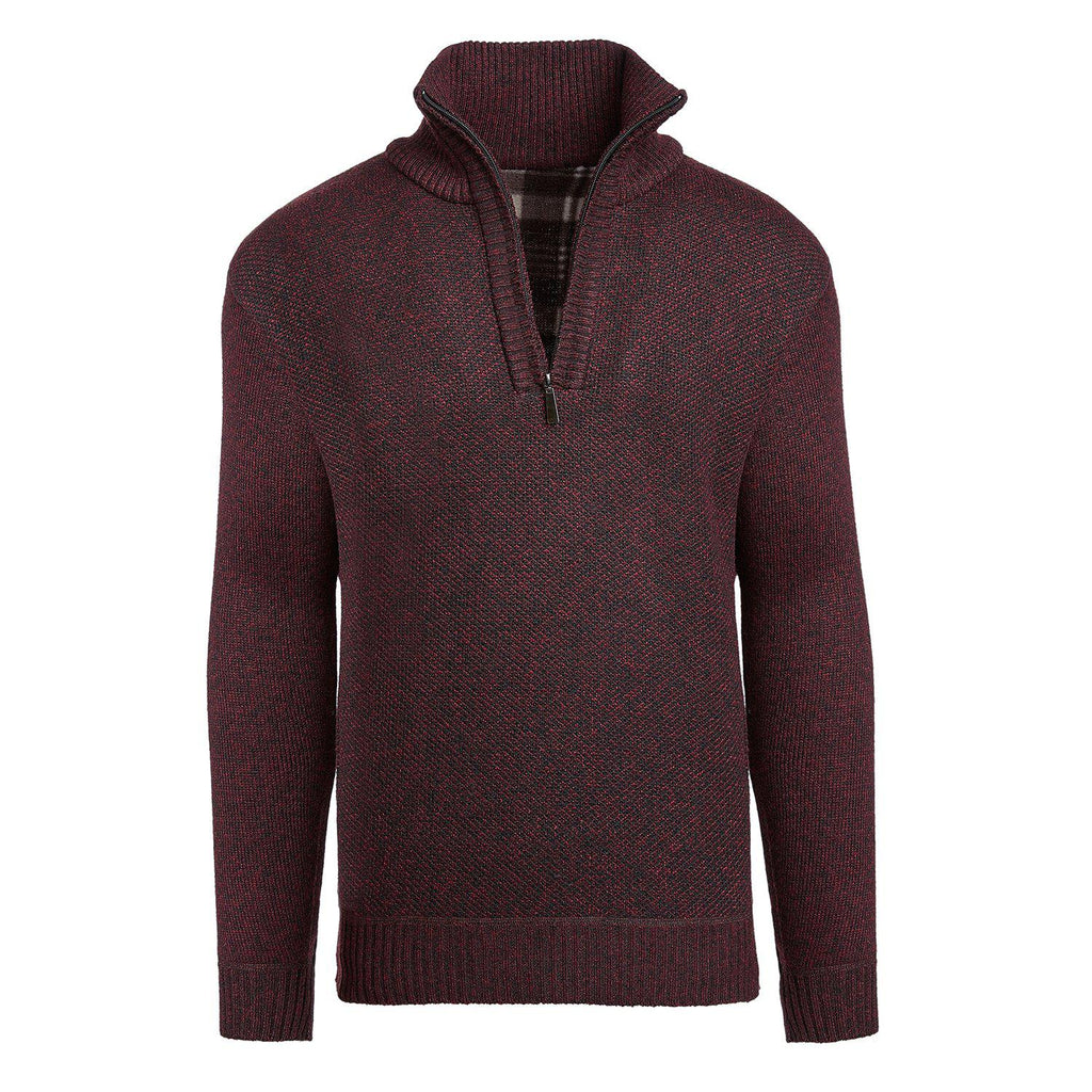 Alta Men's Casual Long Sleeve (Half-Zip / Full-Zip) Mock Neck Sweater Jacket-Red-Half-Zip-S-Daily Steals