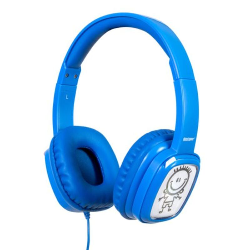 Deco Gear Kids Over-Ear Customizable Doodle Headphones with Safe Ears Volume Limiter-Blue-Daily Steals