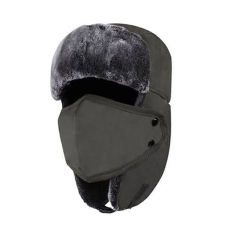 Unisex Full-Face Winter Trooper Ski Hat-Grey-Daily Steals