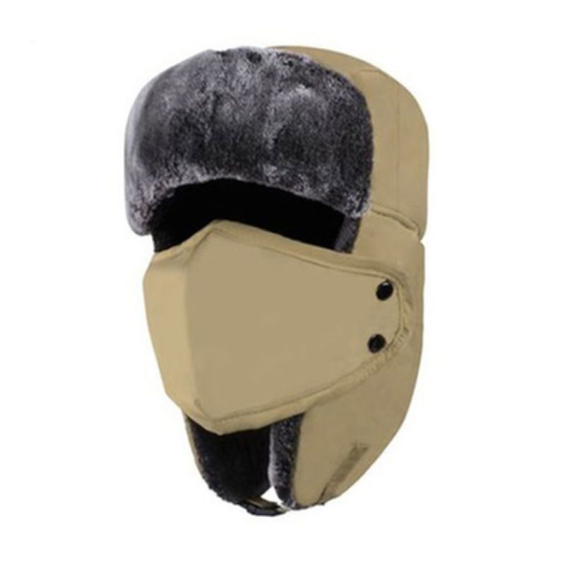 Unisex Full-Face Winter Trooper Ski Hat-Khaki-Daily Steals