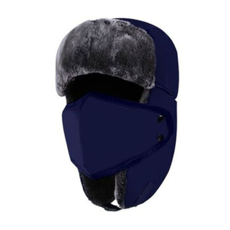 Unisex Full-Face Winter Trooper Ski Hat-Navy-Daily Steals