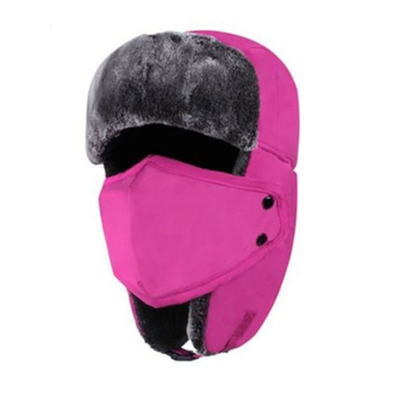 Unisex Full-Face Winter Trooper Ski Hat-Pink-Daily Steals