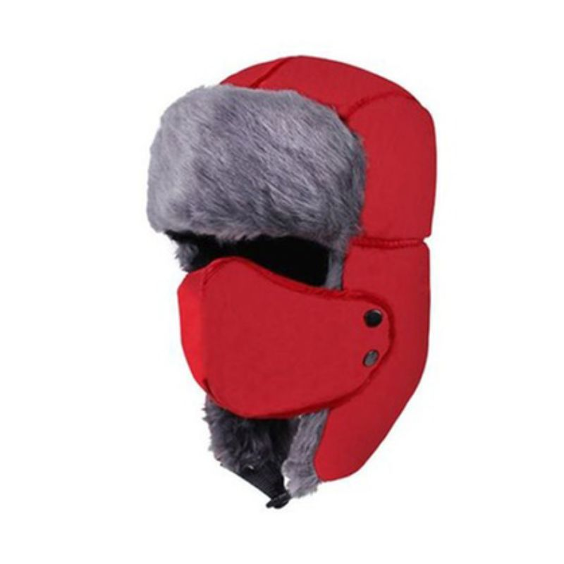 Unisex Full-Face Winter Trooper Ski Hat-Red-Daily Steals