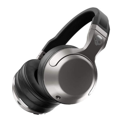 Daily Steals-Skullcandy Hesh 2 Bluetooth Wireless Over-Ear Headphones with Microphone, 15-Hour Rechargeable Battery, Silver-Headphones-