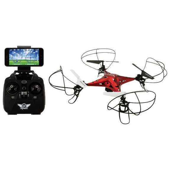 Sky Rider Metal Alloy Drone Quadcopter with Wi-Fi Camera & Extra Battery-