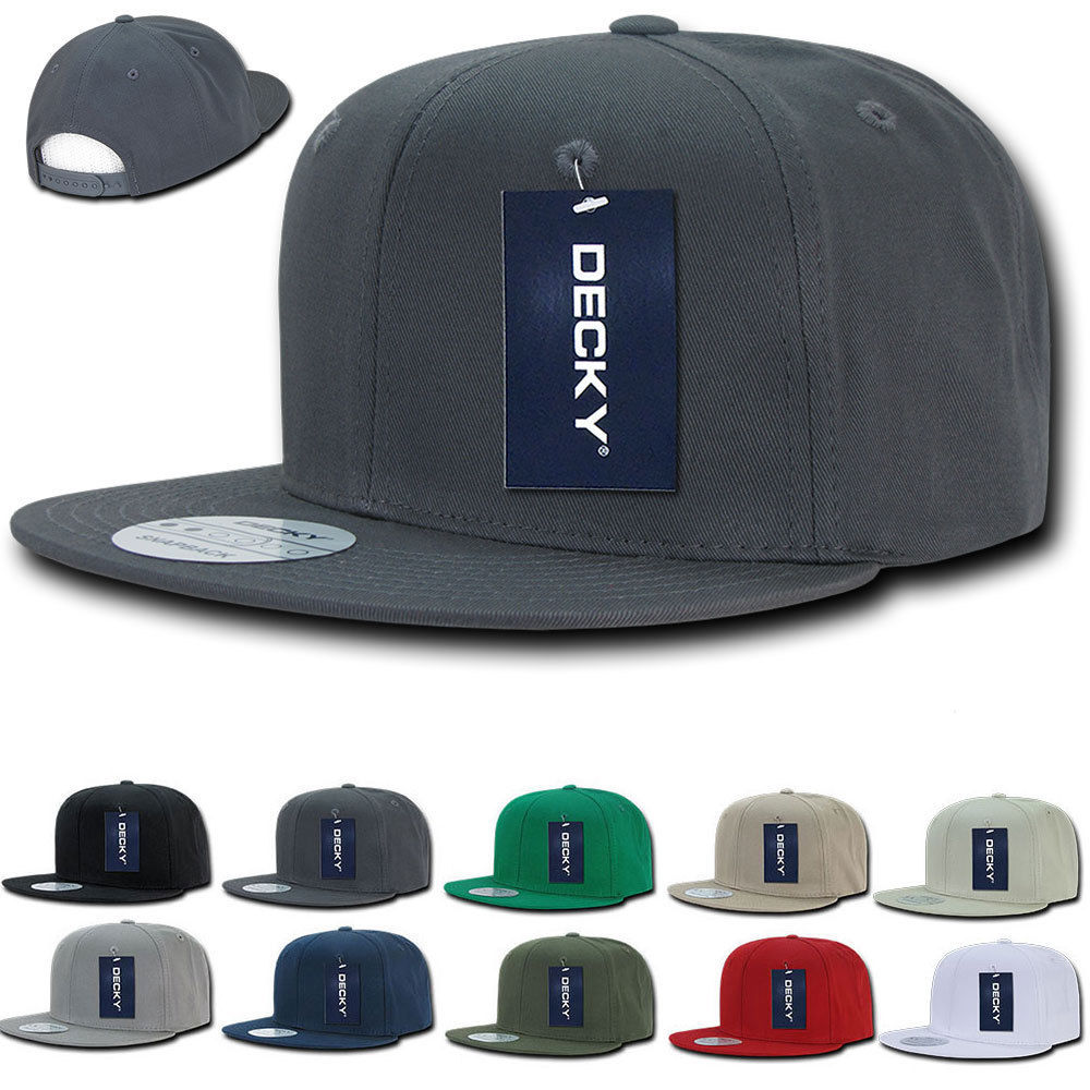 DECKY Cotton Retro Flat Bill 6 Panel Snapback Baseball Caps-Daily Steals