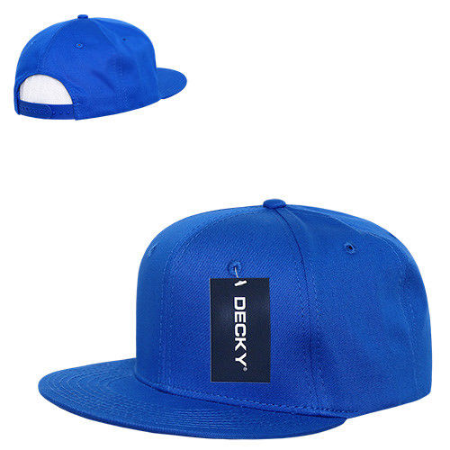 DECKY Cotton Retro Flat Bill 6 Panel Snapback Baseball Caps-Royal-Daily Steals