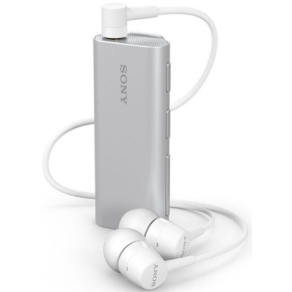 Sony Stereo Bluetooth Headset with Speaker & Camera Shutter Button-Silver-Daily Steals