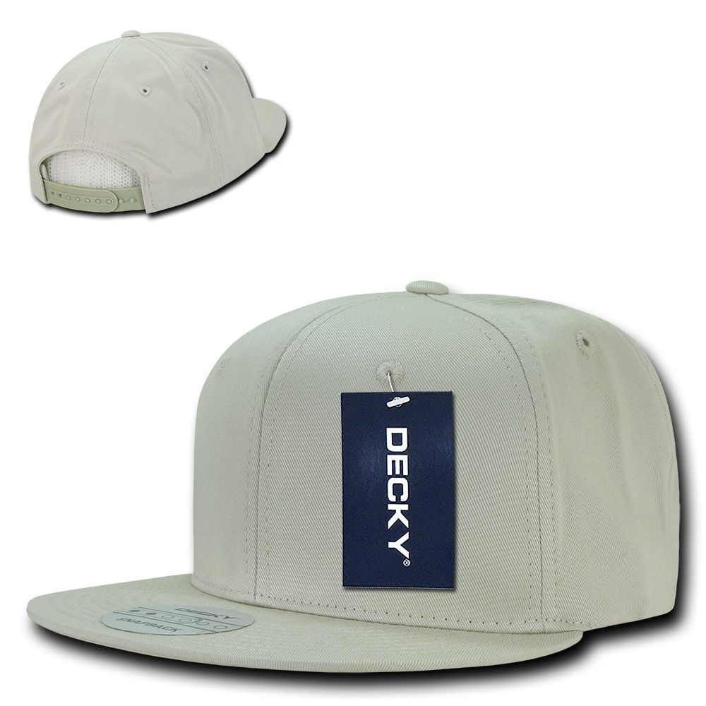 DECKY Cotton Retro Flat Bill 6 Panel Snapback Baseball Caps-Stone-Daily Steals
