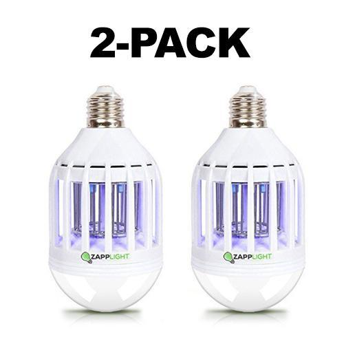 [2-Pack] Zapplight Dual LED Lightbulb and Bug Light Zapper-Daily Steals